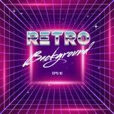80s Retro Sci-Fi Background Royalty Free Stock Photos