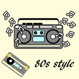 80s retro style, Vintage retro 80`s  flyer. 1980 disco Stock Image