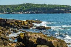 ` S Rocky Coast de Maine Imagem de Stock