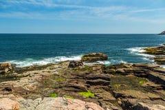 ` S Rocky Coast de Maine Imagens de Stock