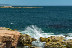 ` S Rocky Coast de Maine Fotografia de Stock Royalty Free