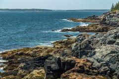 ` S Rocky Coast de Maine Foto de Stock Royalty Free