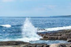 ` S Rocky Coast de Maine Imagens de Stock Royalty Free
