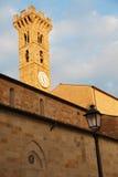 钟楼在Fiesole,佛罗伦萨 库存照片