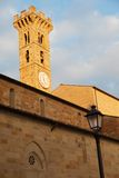 Bell tower in Fiesole, Florence. S. Romolo's Church in Fiesole, Florence Stock Photo