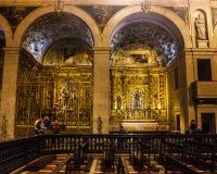 S Roque Church Lissabon, Portugal - S Roque kapell Arkivbild