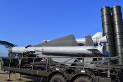 S-200 S-300防空导弹复合体 免版税库存图片