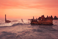 S S Dicky Shipwreck Photographie stock