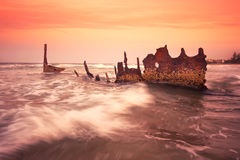 S.S Dicky Shipwreck Royalty Free Stock Photo