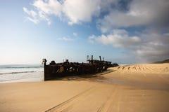 S.S. Maheno, νησί Fraser στοκ εικόνες με δικαίωμα ελεύθερης χρήσης