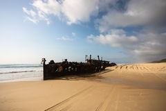 S.S. Maheno, Fraser Island. The S.S. Maheno shipwreck on Fraser Island Royalty Free Stock Images