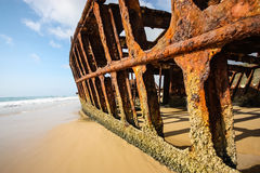 S.S. Maheno, Fraser Island. A closup of the S.S. Maheno shipwreck on Fraser Island Stock Photography