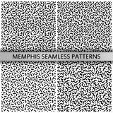 80s - 90s memphis patterns. Black and white memphis patterns. 80s - 90s style. Retro fashion. Mosaic textures. Vector Illustration royalty free illustration