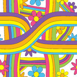 60s 70s Seamless Pattern Stock Photography