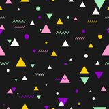 80s or 90s tile vector pattern. For seamless decoration wallpaper Stock Illustration
