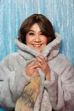 50s 60s years old Fashion Asian Woman Portrait royalty free stock photo