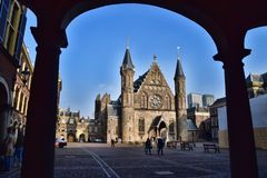 ` S Salão de Ridderzal ou de cavaleiro em Haia os Países Baixos Imagens de Stock