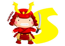 S for Samurai Royalty Free Stock Images