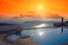 s santorini willa obrazy royalty free