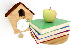 It's school time. Back to school concept. 3d rendered illustration Stock Photography