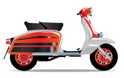 60s Scooter Motorbike. A typical 1960 style motor scooter over a white background stock illustration