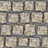 S002 Seamless texture - cobblestone pavers Royalty Free Stock Photography