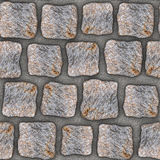 S010 Seamless texture - cobblestone pavers Stock Images