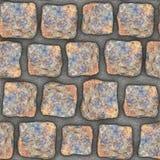 S013 Seamless texture - cobblestone pavers Stock Image