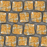S015 Seamless texture - cobblestone pavers Stock Photography