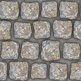 S016 Seamless texture - cobblestone pavers Royalty Free Stock Photos