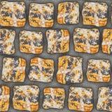 S009 Seamless texture - cobblestone pavers Stock Images