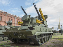 2S6-self-propelled anti-aircraft weapon with eight 9M311 missile Stock Image