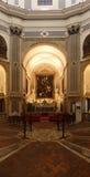 ` S Sette Opere di Misericordia de Caravaggio en Nápoles, Italia foto de archivo