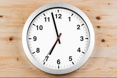 It`s seven o`clock already, time to wake up for breakfast, moder Stock Photos