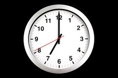It`s seven o`clock already, time to wake up for breakfast, moder Stock Photo