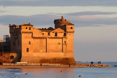 S. Severa Castle. At S. Severa, Lazio (Italy) you can find this wonderful castle just on the seashore Stock Photography
