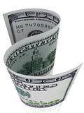 S-Shape 100 dollar sedel. Royaltyfria Foton