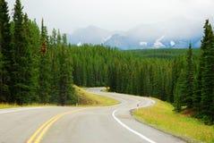 S shape mountain road Stock Image