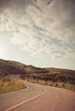 S shape road. At mountain Royalty Free Stock Images