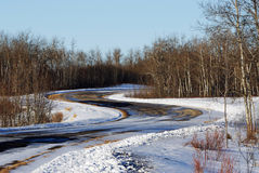 S shape road in winter Stock Image