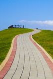 S-shape walkway in Bali, Taiwan, Taiepi Royalty Free Stock Photos
