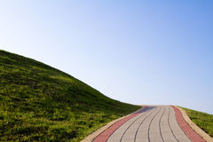 S-shape walkway in Bali, Taiwan, Taiepi Royalty Free Stock Photo