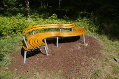 S-shaped Park Bench Stock Image