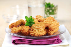 S-shaped Spritz cookies Royalty Free Stock Photos