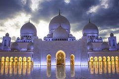 ` S Sheikh Zayed Mosque d'Abu Dhabi image stock