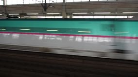 ` S Shinkansen - tren de Japón de bala almacen de video