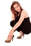s shoes kvinnan Royaltyfri Fotografi