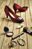 s shoes kvinnan Arkivbild