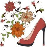 s shoes kvinnor Fotografering för Bildbyråer
