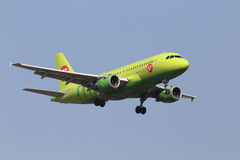 S7 - Siberia Airlines Airbus A319-114 aircraft Royalty Free Stock Photo
